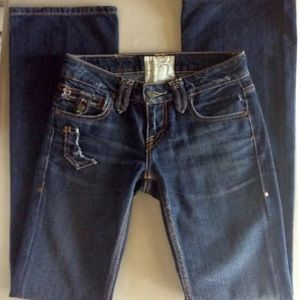 (a188) Low rise boot cut jeans TAVERTINI size 25""